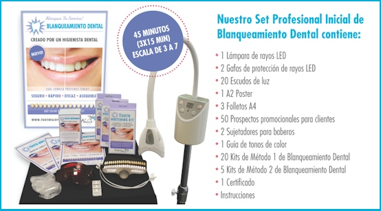 Set Profesional Inicial Blanqueamiento Dental